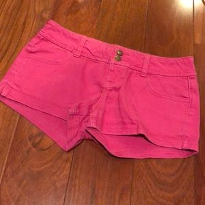 Pink forever 21 shorts size 25